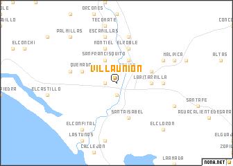 Mapa De Villa Union Durango Mexico