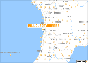 map of Villavert-Jimenez