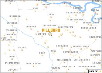 map of Villboro
