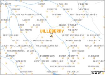 map of Villeberny
