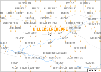 map of Villers-la-Chèvre