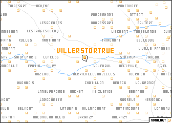 map of Villers-Tortrue