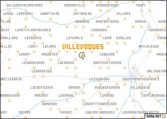 map of Villevoques