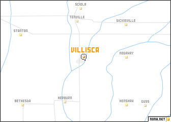 map of Villisca