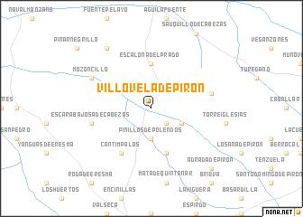 map of Villovela de Pirón