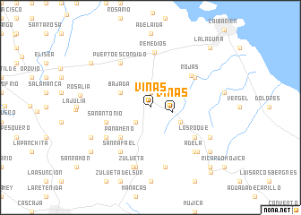 map of Viñas