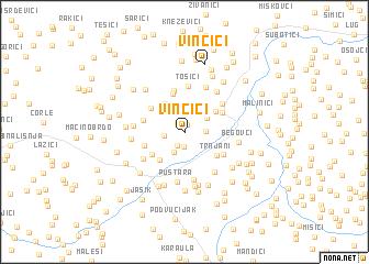 map of Vinčići