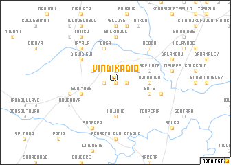 map of Vindikadio
