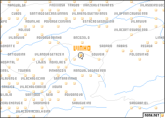 map of Vinhó