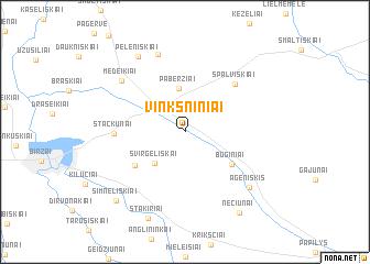 map of Vinkšniniai