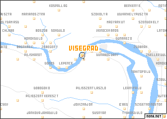 Visegrad Hungary Map Visegrád (Hungary) map   nona.net