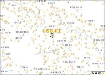 map of Viševice