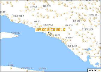 map of Viškovića Vala