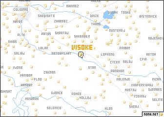 map of Visokë