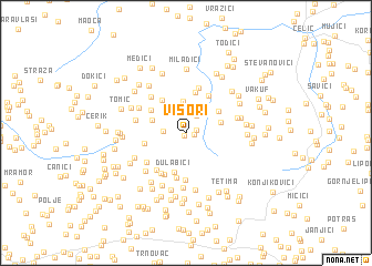 map of Visori
