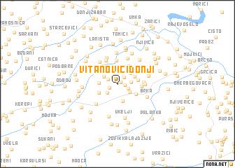 map of VitanovićiDonji
