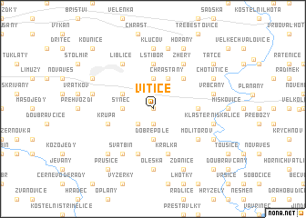 map of Vitice