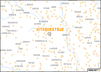 map of Vitkove Staje