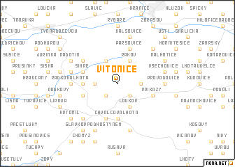map of Vítonice