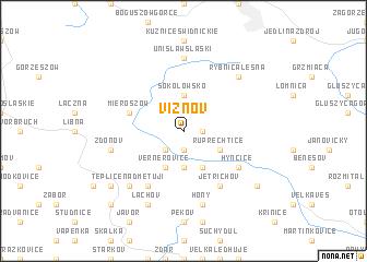 map of Vižňov
