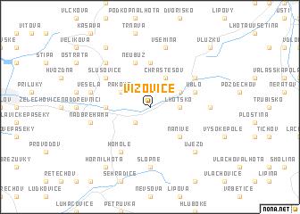 map of Vizovice