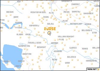 map of Vjosë
