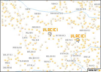 map of Vlačići