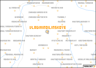 map of Vladimiro-Il'inskoye