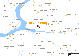 map of Vladimirovka