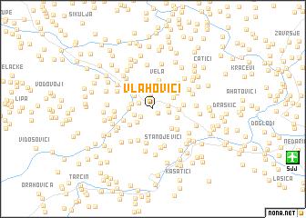 map of Vlahovići