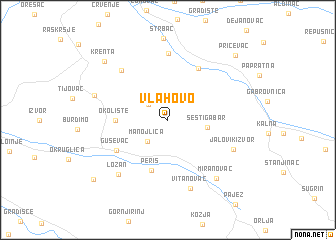 map of Vlahovo