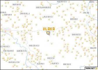 map of Vlaka