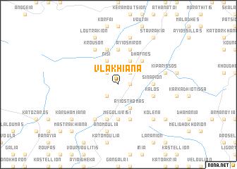 map of Vlakhianá