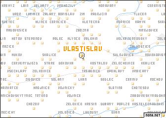 map of Vlastislav