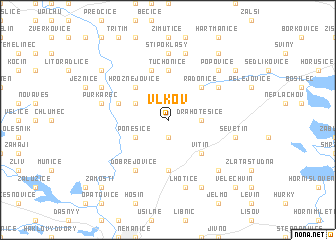 map of Vlkov