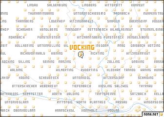 map of Vocking