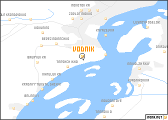 map of Vodnik