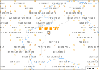 map of Vöhringen
