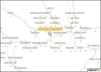 map of Voidersdorf