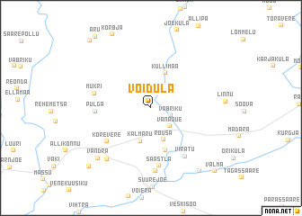map of Võidula