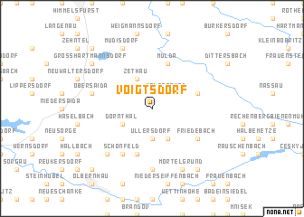 map of Voigtsdorf