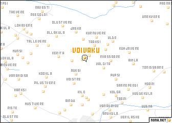 map of Võivaku