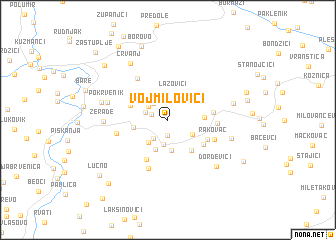 map of Vojmilovići