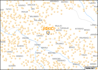 map of Vokići