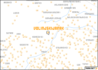 map of Volinjski Jarak