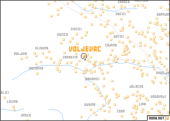 map of Voljevac