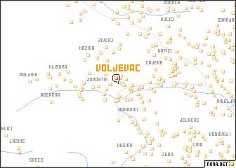 map of Voljevac