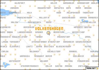 map of Volkenshagen