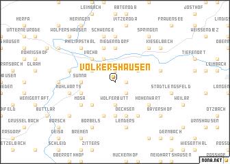 map of Völkershausen