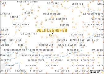 map of Völkleshofen